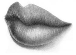 Drawn lips