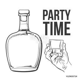 Drawn liquor sketch