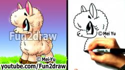 Drawn alpaca cartoon