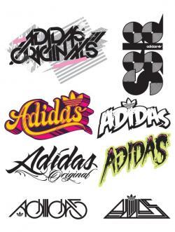 Adidas clipart logo design