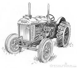 Drawn log farmer tractor