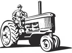 Drawn tractor farm tractor