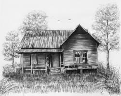 Drawn hosue abandoned house