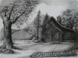 Drawn scenery outstanding