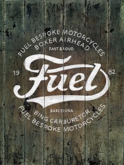 Drawn logo fuel
