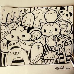 Drawn lollipop doodle