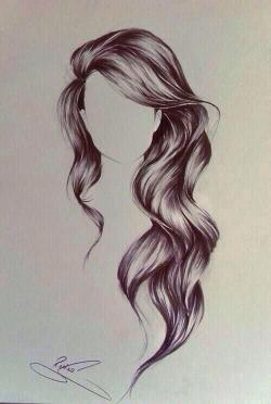 Drawn long hair