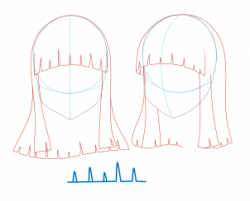 Drawn long hair