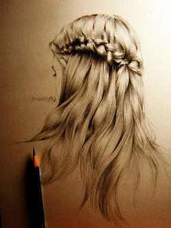 Drawn braid teenager