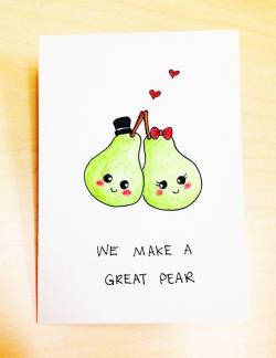 Drawn pear cute