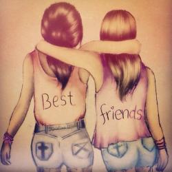 Drawn love friendship