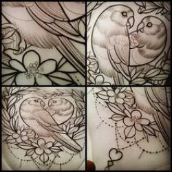 Drawn lovebird inspiration