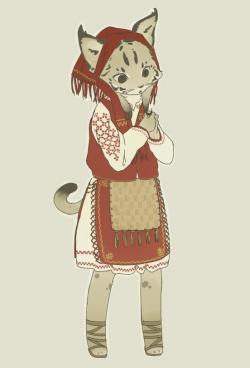 Drawn lynx female