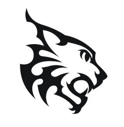 Drawn lynx tribal