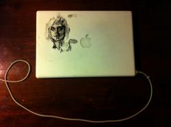 Drawn macbook