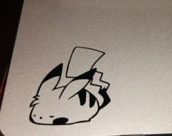 Drawn macbook anime