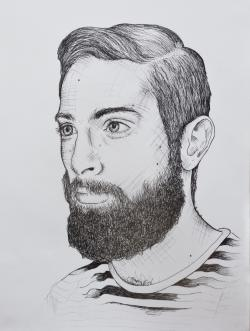 Drawn man beard illustration