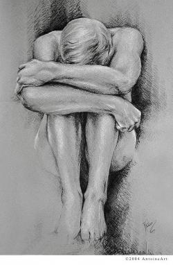 Drawn figurine composition