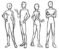 Drawn figurine group person