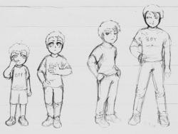 Drawn figurine toddler