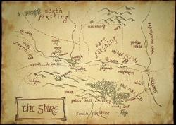 Drawn map bilbo