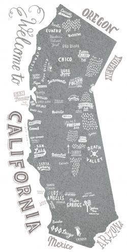 Drawn map california