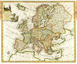 Drawn map europe