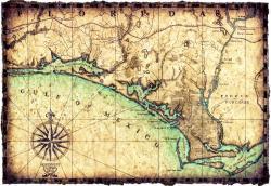 Drawn map florida