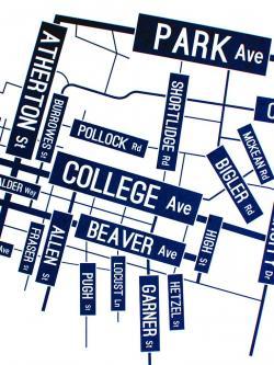 Drawn map penn state university park