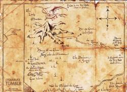 Drawn map the hobbit