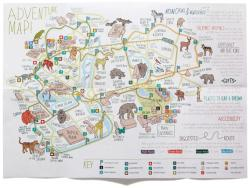 Drawn map zoo