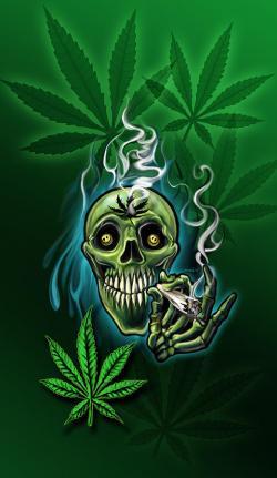 Drawn cannabis pothead