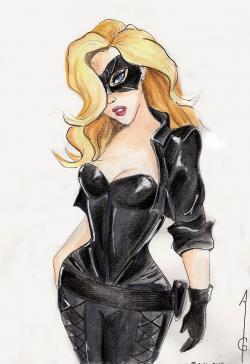 Drawn mask black canary