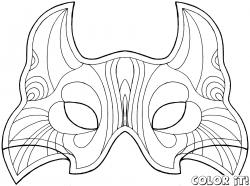 Drawn masks carnival