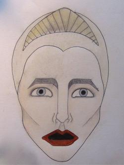 Drawn masks greek