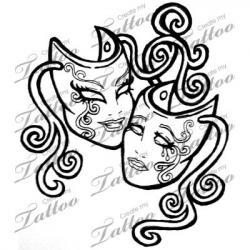 Drawn masks laugh now