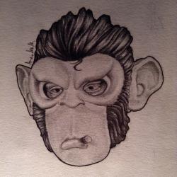 Drawn masks pencil drawing
