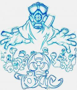 Drawn masks toxic