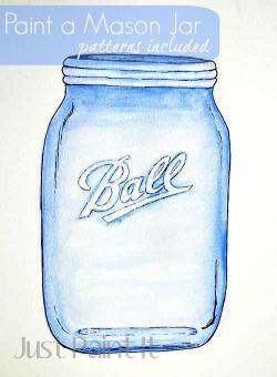 Drawn mason jar ball jar