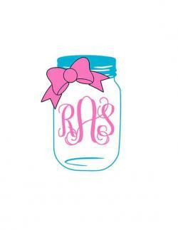 Drawn mason jar bow