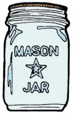 Drawn mason jar cartoon