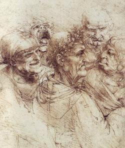 Drawn expression da vinci