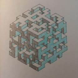Drawn maze geometric
