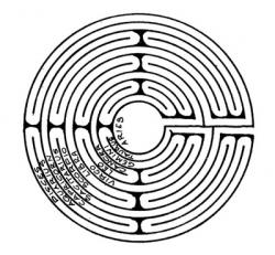 Drawn maze greek