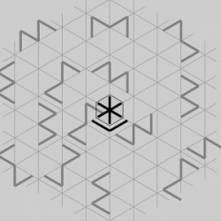 Drawn maze hexagon