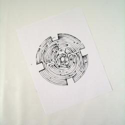 Drawn maze janitor