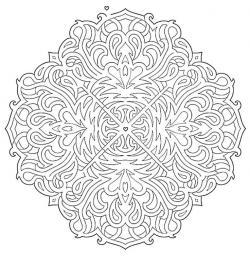 Drawn maze mandala