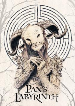 Drawn maze pan's labyrinth