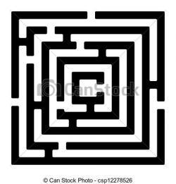 Drawn maze rectangle