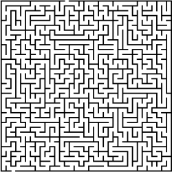 Drawn maze tricky